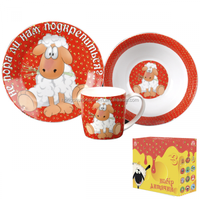 cheap deer french porcelain children's dinnerware set