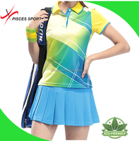 latest fashion girls midi tennis skirt and blouse supplier