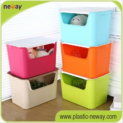 Medium pp plastic storage box toy for bins with handles