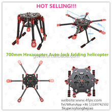 HF700A 3K Carbon Fiber Full Folding Hexacopter 700mm FPV Aircraft Frame 6-Axis Kit with landing gear for RC Helicopter UAV Drone