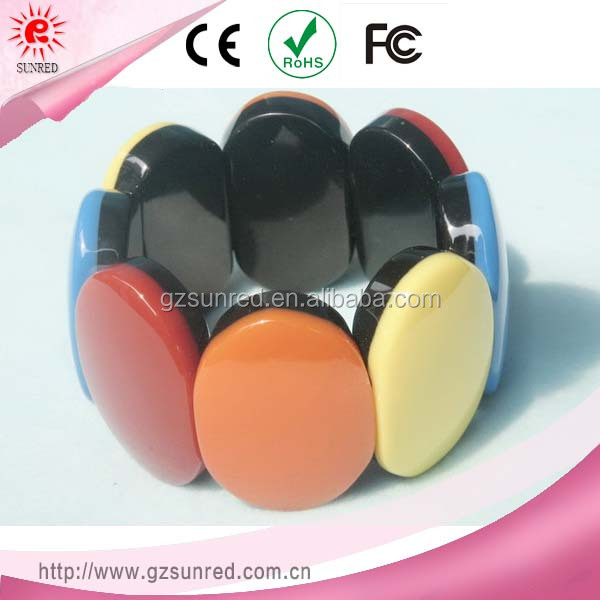 Customized Fashionable Colorful Resin Bead Bracelet