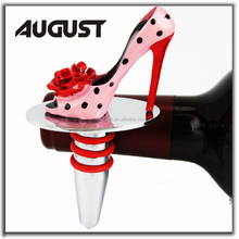 Ladies Poetic Licence Shake It High Heel Wine Stopper Mary Jane Polka Dot Rose Red