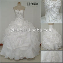 JJ2050 Newest Ball Gown famous designer puffy Wedding Gown 2013