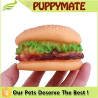 Wholesale Soft Squeaky Pet Toy for Dogs of Small Hamberger