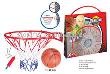Metal ring basket ball play set with ball and pump for children Manufactory