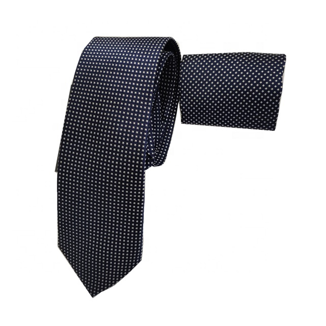 Wholesale High Quality Personalized Black Grid 100% Silk Fabric Men Wedding <strong>Tie</strong> With Gift box