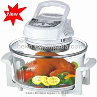 17L Digital electric halogen cooker convection oven turbo oven electric oven with A13 aprrove