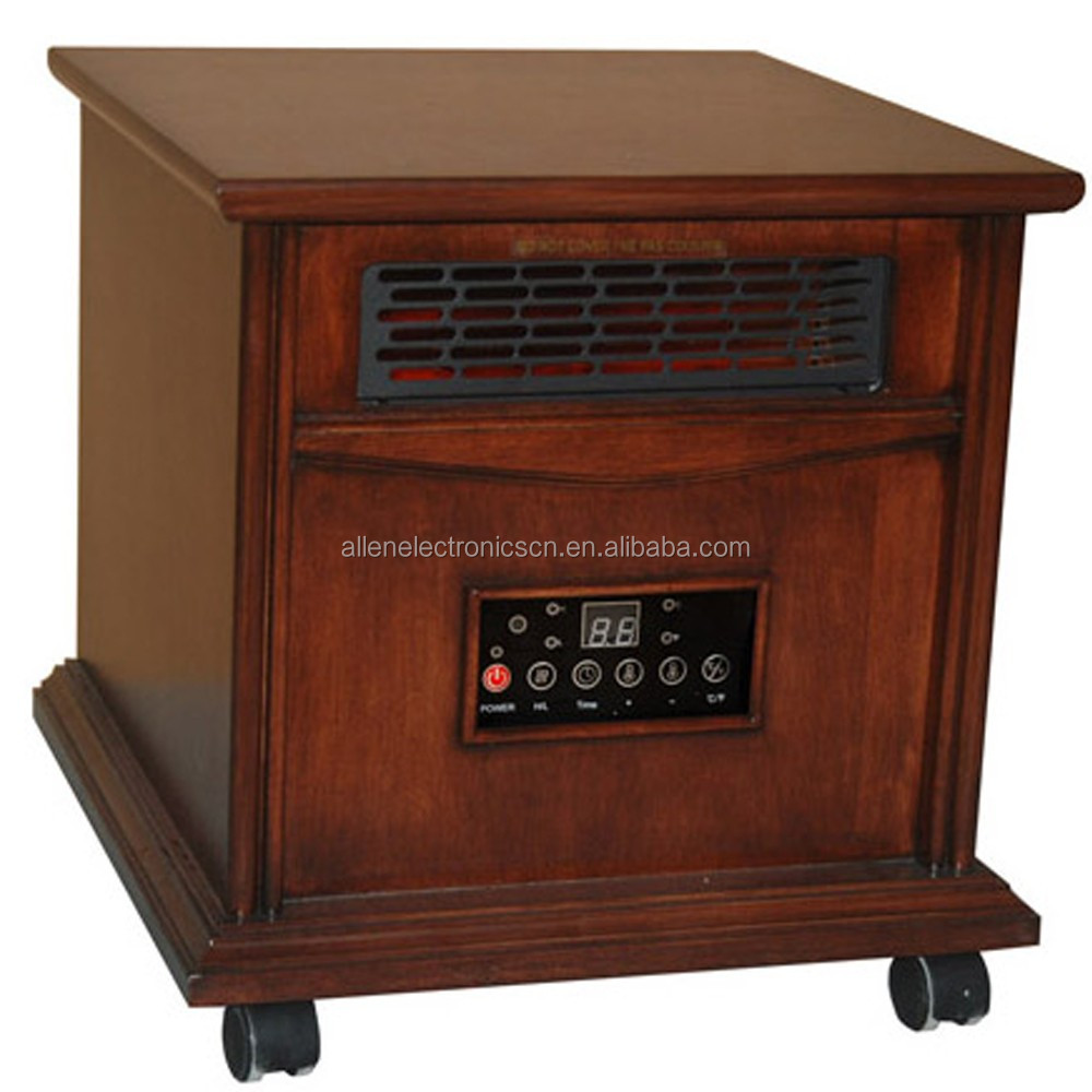 Indoor Wood Enclosure Wholesale Cabinet Infrared Quartz Heater With Castors