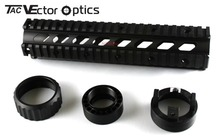 Vector Optics RAS Handguard Free Float 10 inch Picatinny Quad Picatinny Rail Mount System Middle fit M .223 Rem 5.56