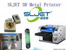 SLJET large format 3d metal plaque uv inkjet printer printing machine for sale