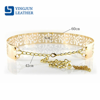 Golden Metal Mirror Waist Belts