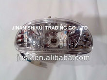 motorcycle LED tail light assembly and plastic parts and turning light