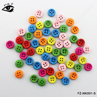 9mm small colorful round wood buttons for clothing craft decorations