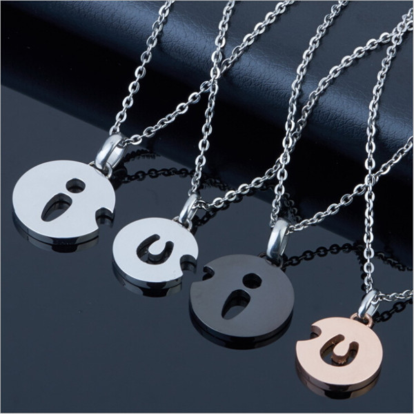 Yiwu Aceon Stainless Steel Plated Round Tag I Love <strong>U</strong> Pendant Set