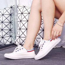 2016 new style white original canvas shoe for women