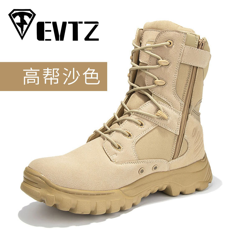 2019 New Style black leather military <strong>boots</strong>
