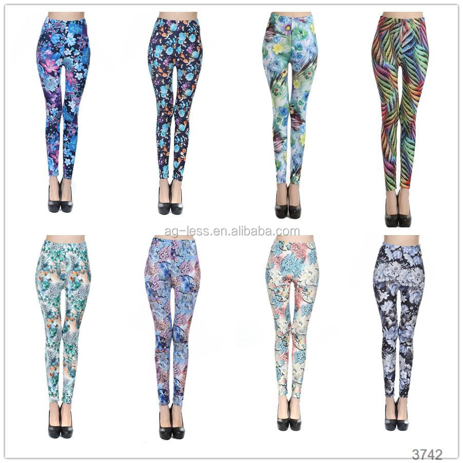 OEM flower 1 dollar women leggings wholesale factory