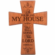 Large wooden cross wall hanging for decoration
