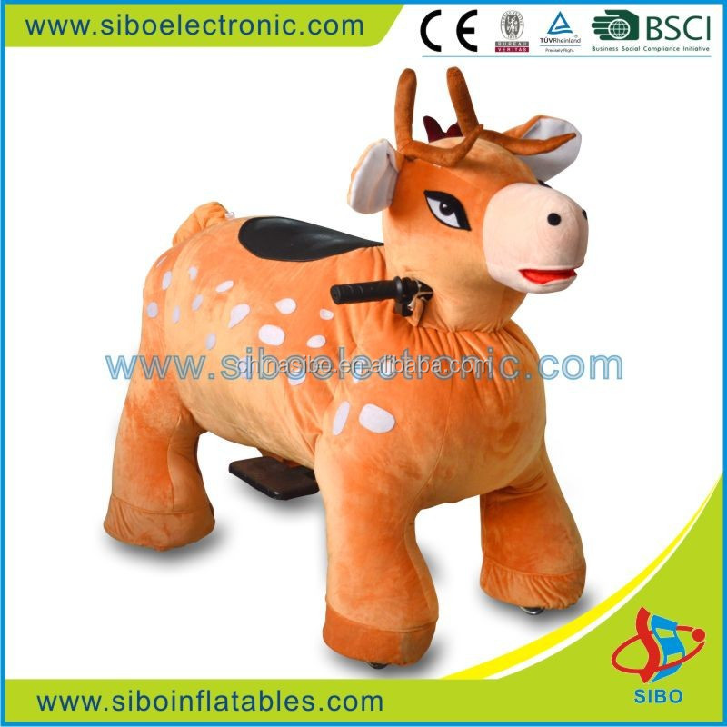 GM59 SiBo Coin operated ride on animal amusement park rides kiddie shopping stroller for mall