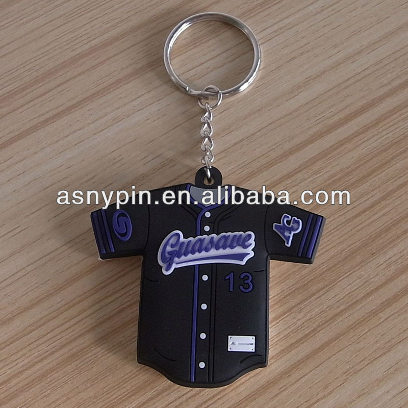 sports t-shirt rubberised keyring