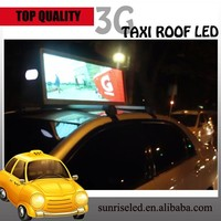 Sunrise high definition car/taxi top led sign P10 1R led screen