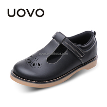 casual fashion ballet style leather girls school shoes