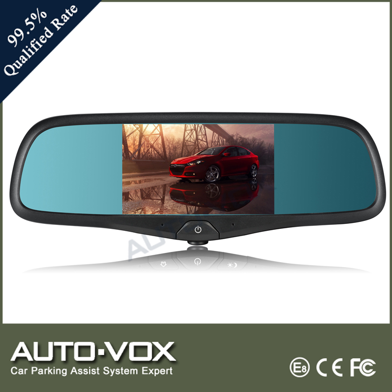 5 inch LCD touch screen rearview mirror car gps with dvr