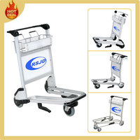 3 wheels luggage trolley parts for airport