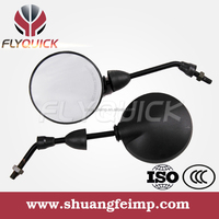 FLYQUICK Motorcycle PP Plastic Front mirror, motorcycle motorbike racing bike side mirror plastic mirror for TVS STAR