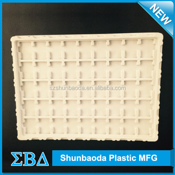 High quality Black/White plastic PCB vacuum formed tray antistatic ESD tray