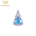 Jewellery Making Silver Sapphire Pendants For Jewelry Making