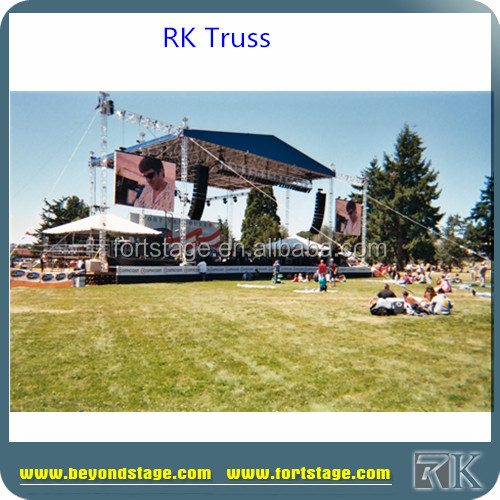 RK heavy duty cheap lighting truss/aluminum boltcheap truss roof system