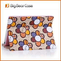 New design flip leather tablet case for ipad 4