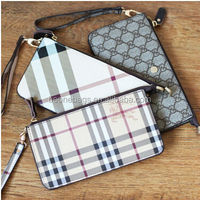 Classical Fashion Checked Pattern Lady Bag Holder Wallet