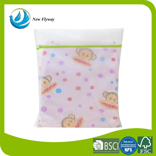 Professionnal cheap square white laundry products small storage mesh bag for hotel