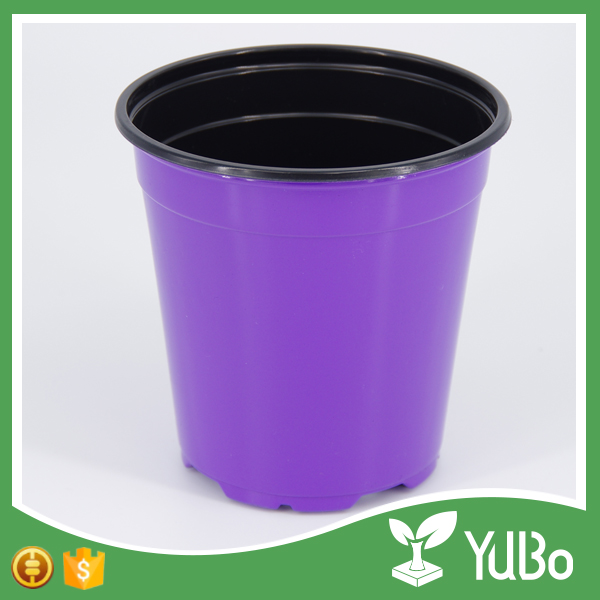 Low price mini colorful plastic flower pot, nursery flower pot plant for sale