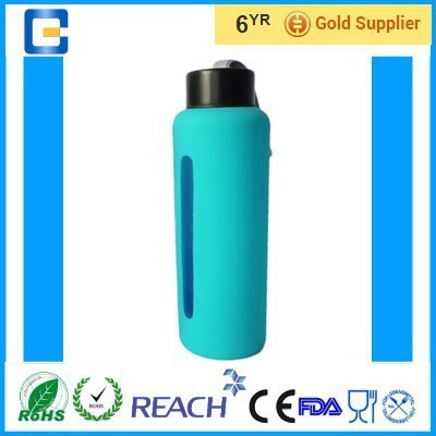 glass bottles for water/Bottle With Silicone Coating/glass bottle manufacturers