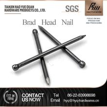furniture brad nails factory selling zinc flat head polished screw iron common wire nail in low price