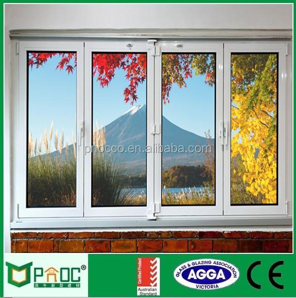Modern House Aluminium Slide Fold Window Bathroom Design