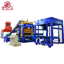 QT10-15 Semi Automatic hydraulic press Concrete cement interlock paving paver block making machine/ hollow brick machine price