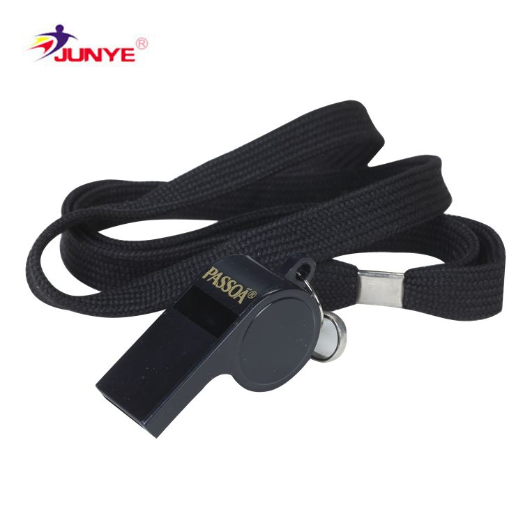 Sell well new type basketball referee colorful plastic whistle with string and clip