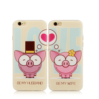 Popular lover pig 3d mobile phone cover for iphone 6 cover case