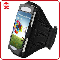 Black Strong Breathable Running Sport With Reflective Strap Mesh Armband for Iphone 5