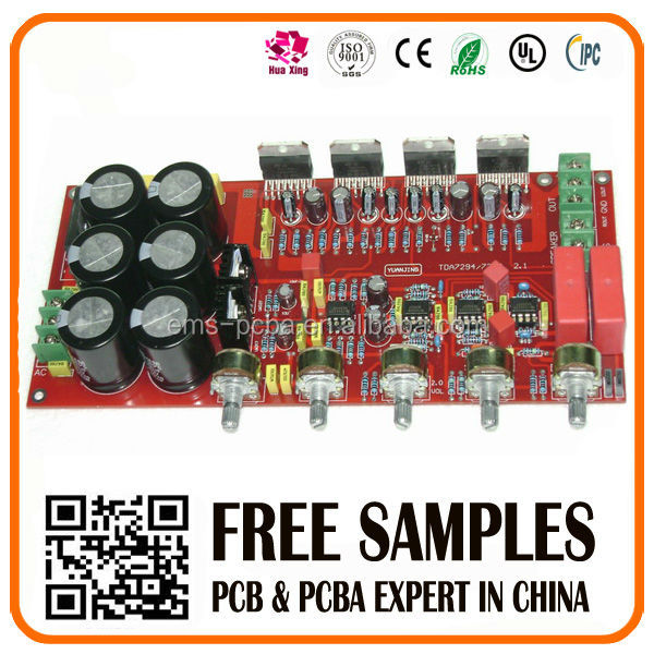 Build Car Audio Amplifier pcb assembly for customized