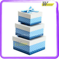 Nested wedding gift box with ribbon