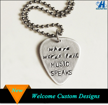Rock Band Metallica logo Handmade Guitar Pick Pendant Necklace