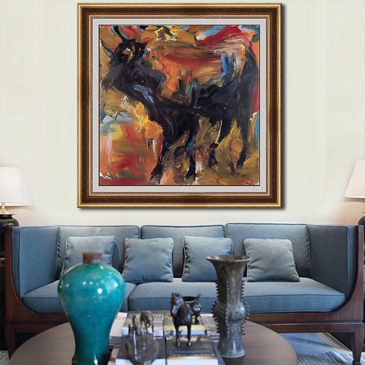 factory direct wholesale abstract animal painting flying dragon wall art picture Canvas Oil Painting