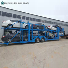 2 axle car carrier/transport car semi trailer with 8 cars loading capacity