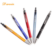 2018 best selling promotional orange color butten metal pen from my alibaba with your logo ball pen