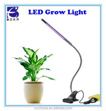 Hydroponic clip growing led lamp tube 5W 24-LED red blue plant grow light